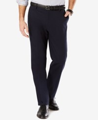 Dockers Men's Big And Tall Signature Classic Fit Khaki Flat Front Stretch Pants Navy