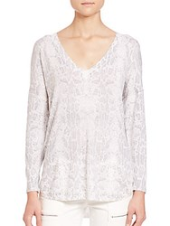 Joie Chyanne Faded Snake Print Blouse Vapor Grey