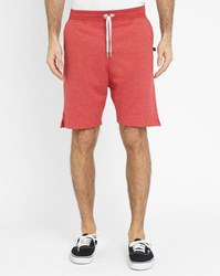Sweet Pants Mottled Red Terry Loose Shorts