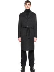 Jil Sander Wool And Cashmere Tailored Robe Style Coat