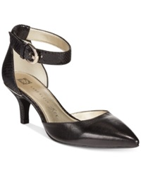 Anne Klein Fayza Dress Pumps Black Smooth Snake