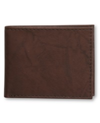 Tasso Elba Slim Cow Antique Bifold Wallet Brown