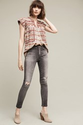 Anthropologie Citizens Of Humanity Carlie High Rise Cropped Skinny Jeans Dark Grey