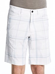 Hawke And Co Seven Pocket Checked Tech Shorts White Plaid