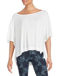 Free People Knit Oversized Tee White