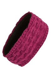 Women's Echo Braid Knit Headband With Fleece Lining