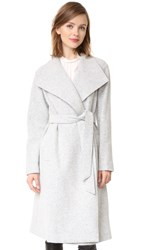 Alice Olivia Zola Shawl Collar Trench Coat Light Grey