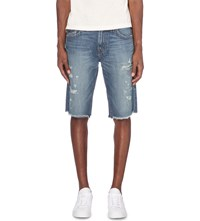 True Religion Ricky Relaxed Fit Denim Shorts Blue