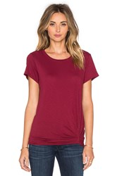 Michael Stars Short Sleeve Crew Neck Tee Red
