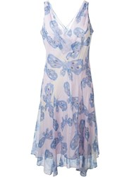 Diane Von Furstenberg 'Papillon Ombre Periwinkle' Dress Pink And Purple
