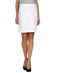 Tommy Hilfiger Knee Length Skirts White