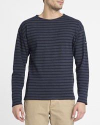 Armor Lux Navy 1525 Classic Sailor Stripe Top Blue