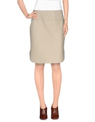 Jil Sander Navy Skirts Mini Skirts Women Beige