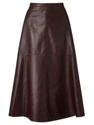 Bruce By Bruce Oldfield 73 Nyc Full Leather Skirt Oxblood