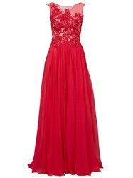 Zuhair Murad Sequin Embellished Pleated Gown Red