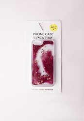 Missguided Skinny Dip Iphone 6 Glitter Phone Case Pink