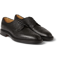 Edward Green Ulswater Textured Leather Brogues