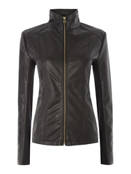 Andrew Marc New York Pu Jacket With Central Zip Black