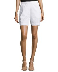 Theory Harsbie Crunch Washed Shorts White