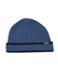 Burberry Ribbed Cashmere Cap Bright Navy