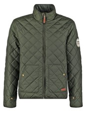 Knowledge Cotton Apparel Light Jacket Forrest Night Dark Green