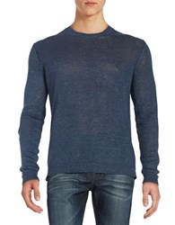 Strellson Textured Cotton Sweater Navy