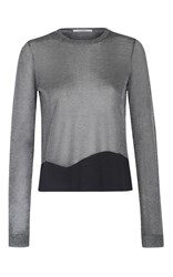 Dorothee Schumacher High Shine Metallic Sheer Top
