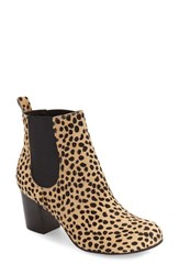 Sole Society Women's 'Mimi' Chelsea Boot Cheetah Dot Black Haircalf