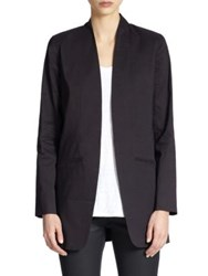 Eileen Fisher Long Open Front Blazer Black
