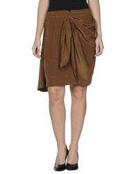 Antik Batik Skirts Knee Length Skirts Women Khaki