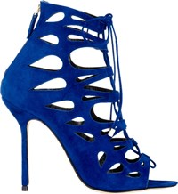 Marskinryyppy Suede Cutout Demie Booties Blue