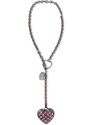 Lanvin Embellished Heart Pendant Black