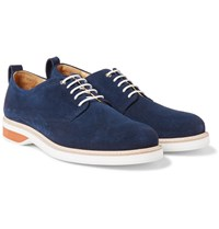 Want Les Essentiels Montoro Suede Derby Shoes Navy