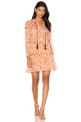 The Kooples Long Sleeve Tassel Dress Orange