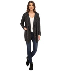 Nydj Cascade Cardi Coat Black White Combo Women's Jacket