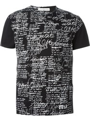 Golden Goose Deluxe Brand Handwriting Print T Shirt Black