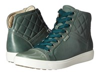 Ecco Soft 7 Quilted High Top Frosty Green Frosty Green Women's Lace Up Casual Shoes Olive