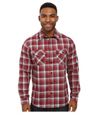 Hurley Dri Fit Rowen Long Sleeve Flannel Night Maroon Men's Clothing Brown