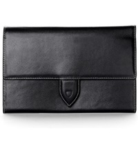 Aspinal Of London Deluxe Leather Travel Wallet Black