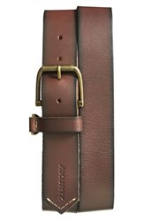 Men's A. Kurtz 'Hayden' Leather Belt Brown