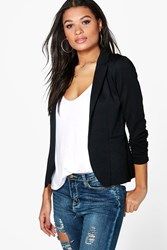 Boohoo Pocket Ponte Blazer Black