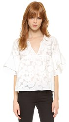 For Love And Lemons Buttercup Blouse White