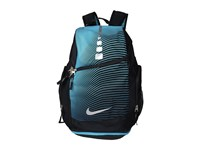 Nike Hoops Elite Max Air Backpack Gr Black Omega Blue Metallic Silver Backpack Bags