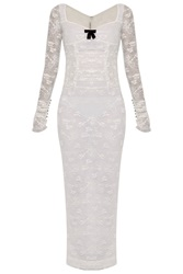 Alessandra Rich Stretch Lace Column Dress