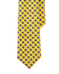 Polo Ralph Lauren Patterned Silk Tie Yellow