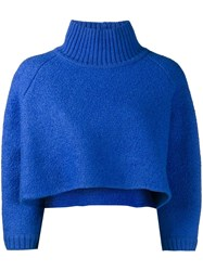 Vika Gazinskaya Cropped Jumper Blue