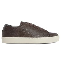 National Standard Brown Edition 3 Grained Leather Sneakers