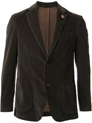 Lardini Single Breasted Blazer Green