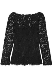 Dolce And Gabbana Guipure Lace Top Black