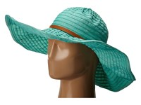 San Diego Hat Company Rbxl291 6 Inch Brim Gold Shimmer Ribbon Hat With Wired Sun Brim Teal Caps Blue